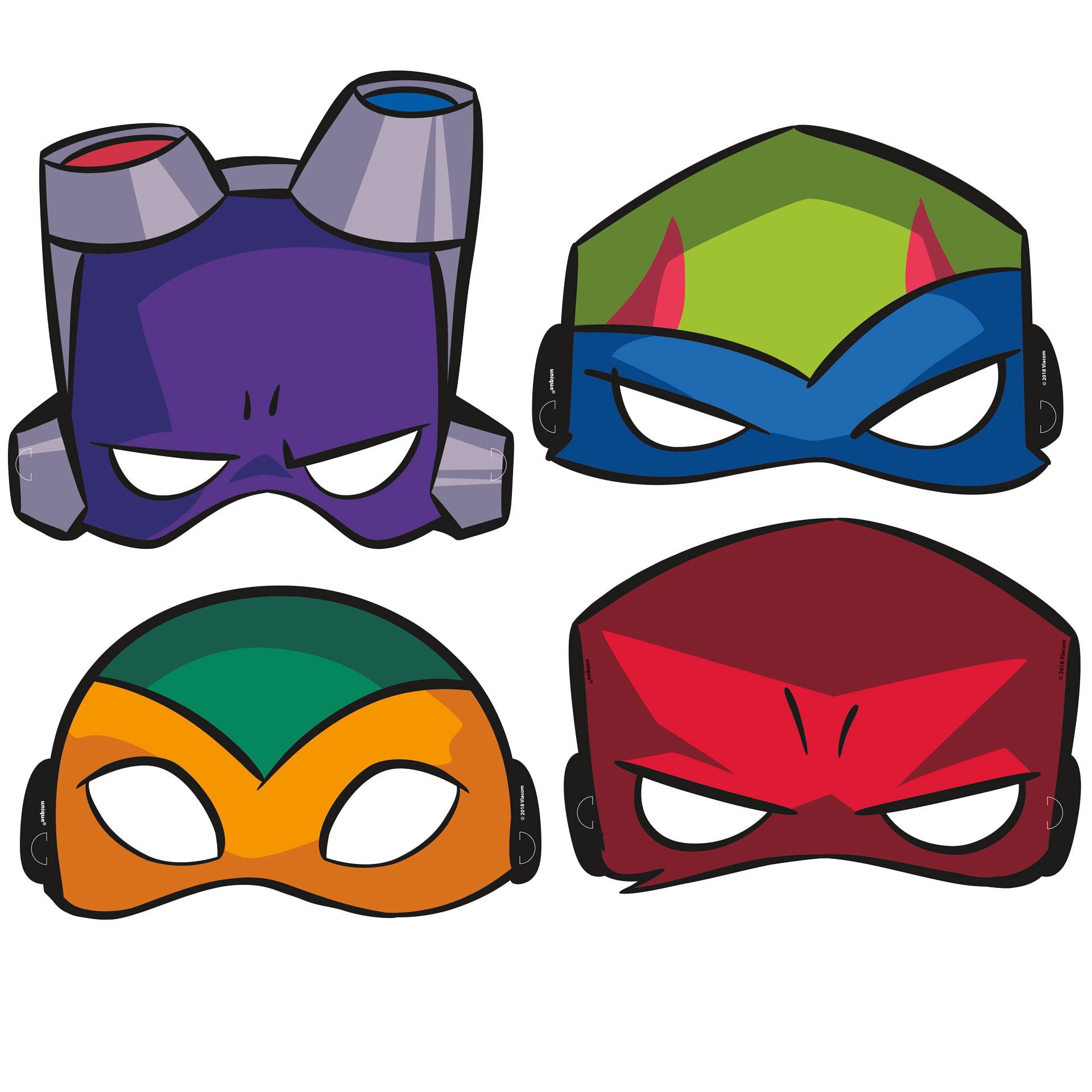 Rise of the Teenage Mutant Ninja Turtles Party Masks