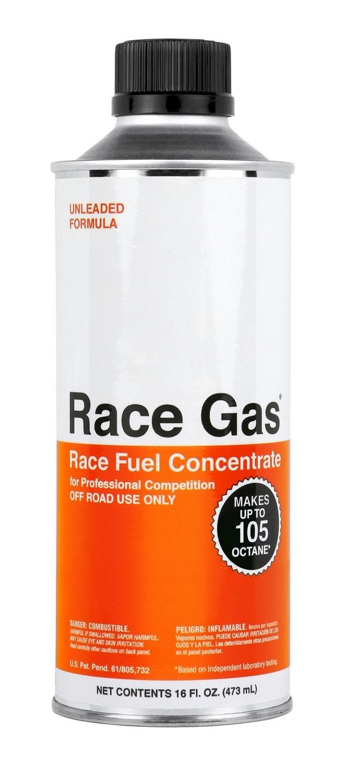 Race Gas 100016 Fuel Additive For 87-93 Octane Gas; Boosts ...