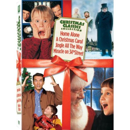 Christmas Classics Box Set  Home Alone   A Christmas Carol   Jingle All The Way   Miracle On 34Th Street  Full Frame  Widescreen
