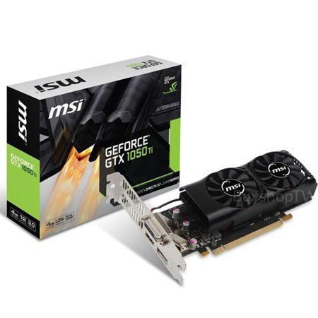 MSI GeForce GTX 1050 Ti 4GB Low Profile PCI Express Video Card - -
