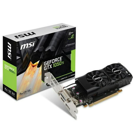 MSI GeForce GTX 1050 Ti 4GB Low Profile PCI Express Video Card - (Geforce Gtx 970 Vs Gtx 1050 Ti)