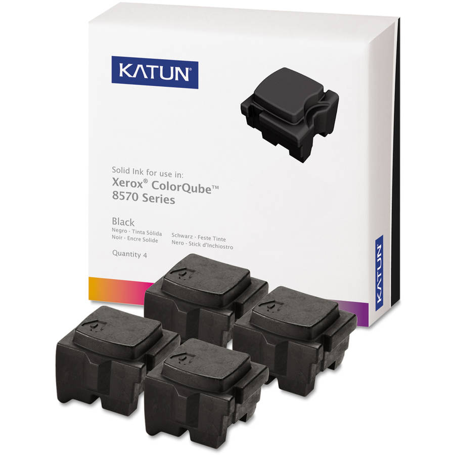 Katun KAT39403 ColorQube 8570 Compatible, 108R00930 Solid Black Ink Cartridge, 4/Box