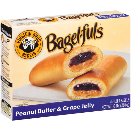 Einstein Bros. Bagel-Fuls Peanut Butter & Grape Jelly Filled Bagels, 4 count, 10 oz