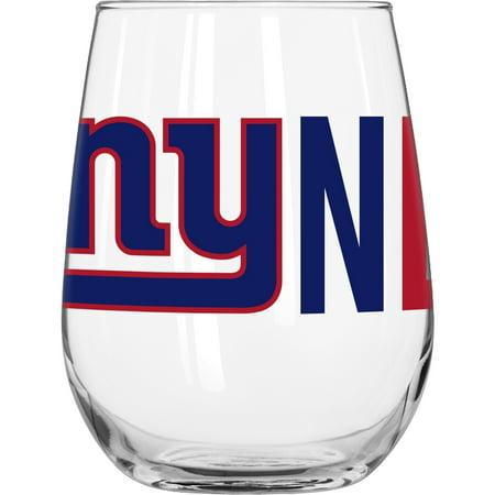 - NFL New York Giants 16 oz. Overtime Curved Beverage Glass