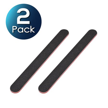 Zodaca 2-pack Black Red Cushioned Beauty Salon Spa Sanding Nail Files Buffer Buffing Nailcare Dead Sea Spa Nail Buffer