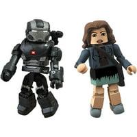 Iron Man 3 Marvel Minimates Series 49 War Machine & Maya Hansen Action Figures, 2-Pack
