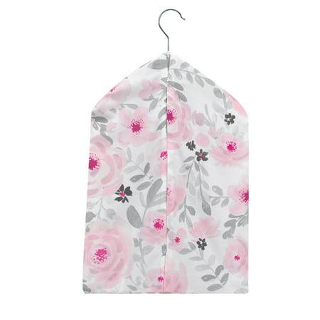 Bedtime Originals Blossom Pink/Gray Watercolor Floral Diaper Stacker Turtle Diaper Stacker