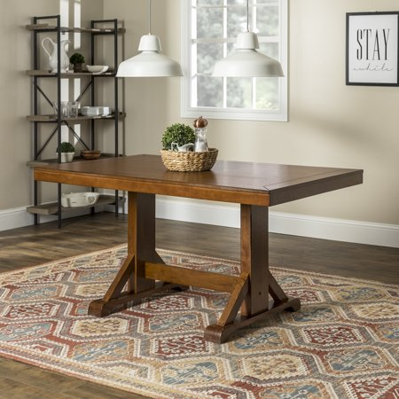 Walker Edison Traditional Wood Dining Table - Antique Brown
