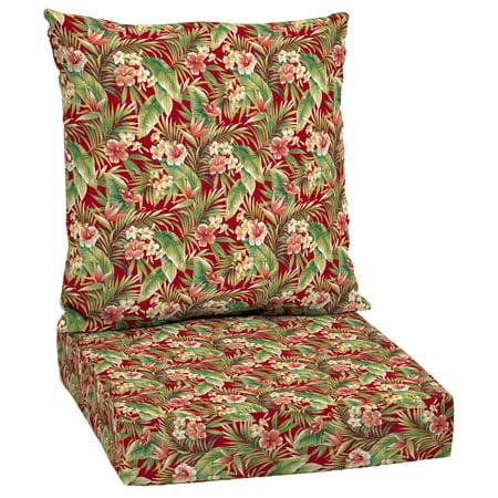 Mainstays Red Tropical Outdoor Deep Seating Cushion Set - Walmart.com