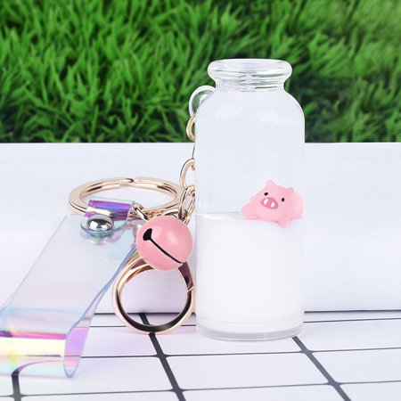 Siaonvr Quicksand Keychain Pig Drifting Surfing Bottle Bag Keychain Decoration Pendant Keychain Surf Accessories