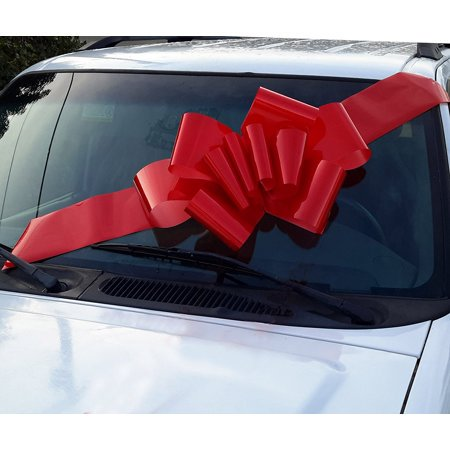 Large Red Car Bow - 23