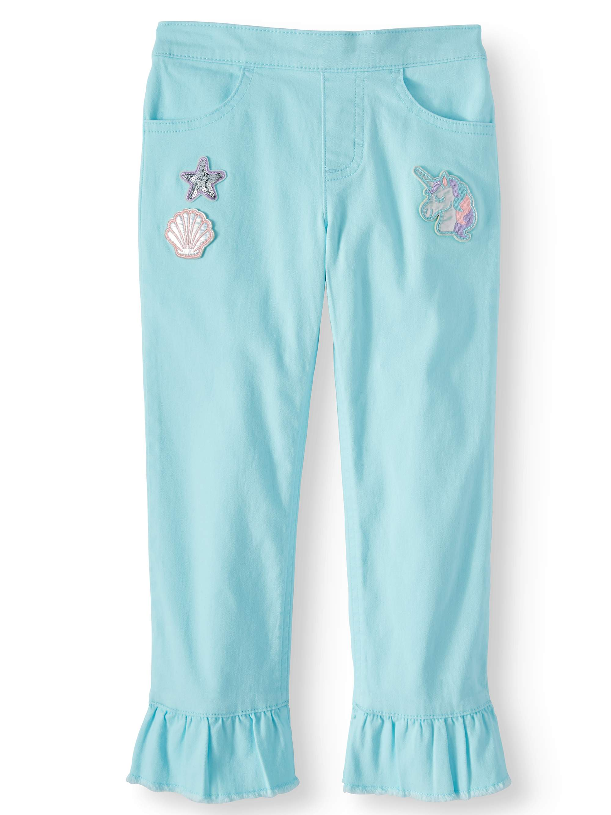 Kick Ruffle Cropped Pants (Little Girls & Big Girls)