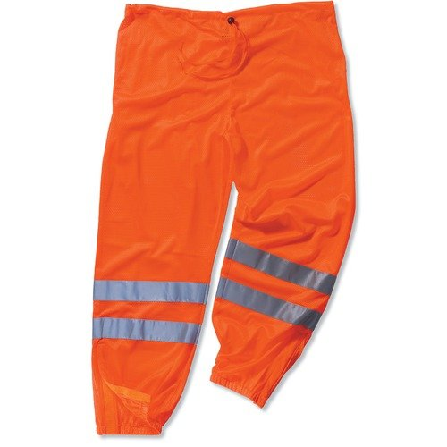 Ergodyne GLoWear 8910 Class-E Hi-Vis Pant, Orange, Large/X-Large