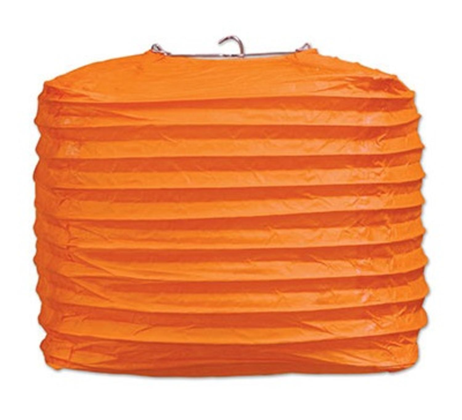 Club Pack of 24 Orange Square Paper Lantern Hanging Party Decorations 8""