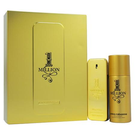 1 Million by Paco Rabanne for Men - 2 Pc Gift Set 3.4oz EDT Spray, 5.1oz Deodorant Spray