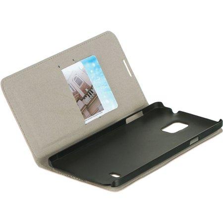 Insten Vertical Wallet Pouch Leather Flip Card Stand Case For Samsung Galaxy Note 4 - Orange - image 4 de 5