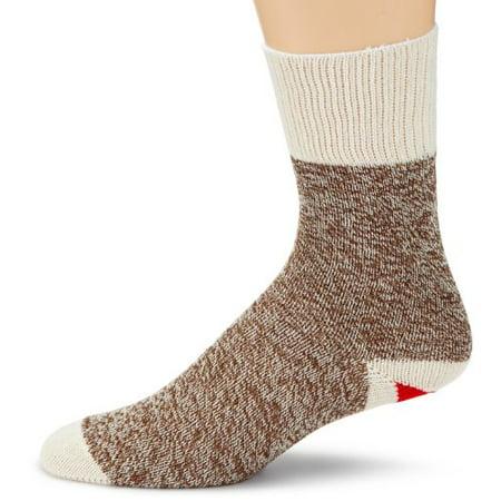 Fox River Original Rockford Red Heel Lightweight Monkey Socks (2 Pack), BROWN HEATHER, X-Large