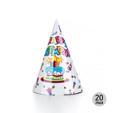 LIVINGbasicsTM Birthday Hat 20CM White 20Pcs
