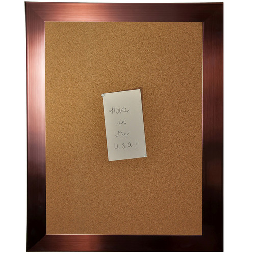 Rayne Mirrors American Made Rayne Shiny Bronze Corkboard