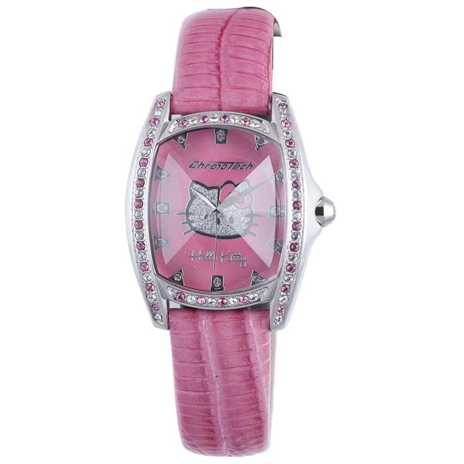 Hello Kitty CT.7094SS-37 Stainless Steel Pink Leather Watch