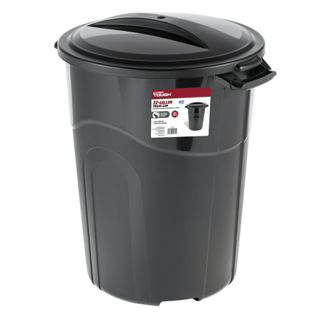 Trash Duty For Students With Special >> Hyper Tough 32 Gallon Injection Molded Trash Can Black Ti0044