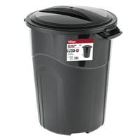Hyper Tough 32 Gallon Injection Molded Trash Can - Black - TI0044