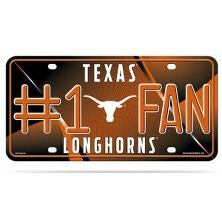 Texas Longhorns #1 Fan Metal License Plate