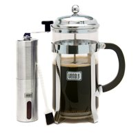 Venoly 8-Cup French Press Coffee Maker with Burr Grinder
