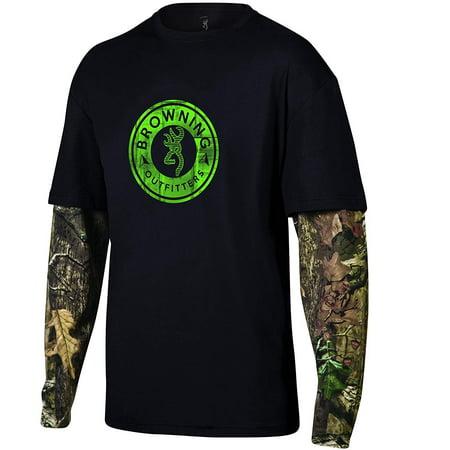 Browning Men's Long Sleeve Ryder Camo T Shirt (Ryder Tee)