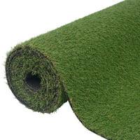 """WALFRONT Artificial Grass 3.3'x33'/0.8""""-1"""" Green"""