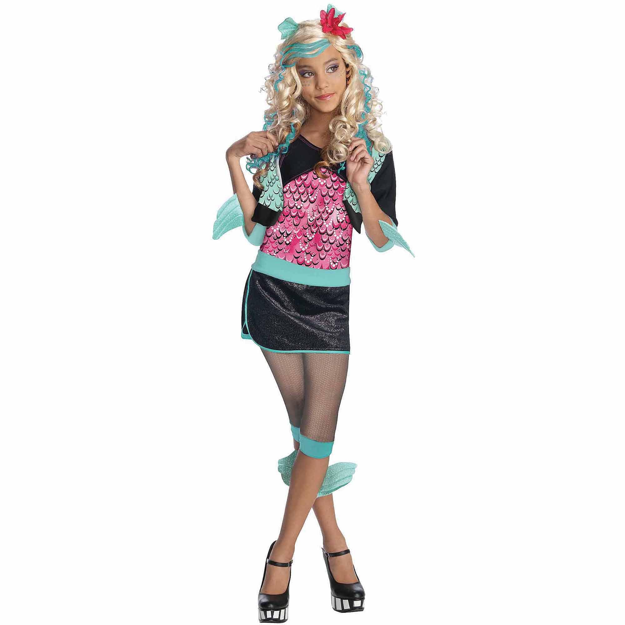 monster high lagoona blue child halloween costume walmartcom - Blue Halloween Dress