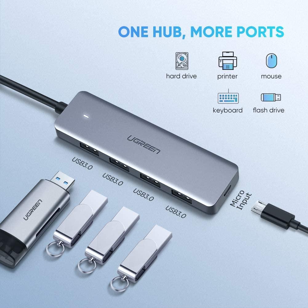 USB 2.0 Ports LG Samsung Galaxy Note 10 S10 S9 Mini USB C Hub Adapter MacBook Air Dell XPS for MacBook Pro Type C to USB 3.0 5Gbps Data Oculus Rift S,Lenovo Yoga Google Chromebook Pixelbook