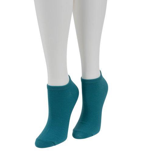No Nonsense Women's Color Expressions No-Show Socks, 6pk