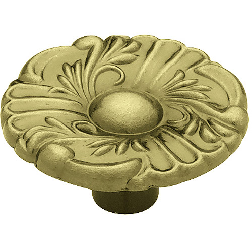 "Liberty 1.5"" Provincial Round Knob, Antique Brass"