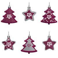 Texas A&M Aggies Six-Pack Shatterproof Tree And Star Ornament Set - No Size