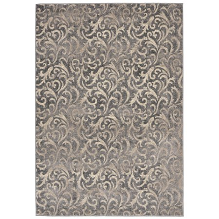 Contemporary Antique Scroll - Liora Manne Royalty Antique Scroll Indoor Rug Grey 4'10