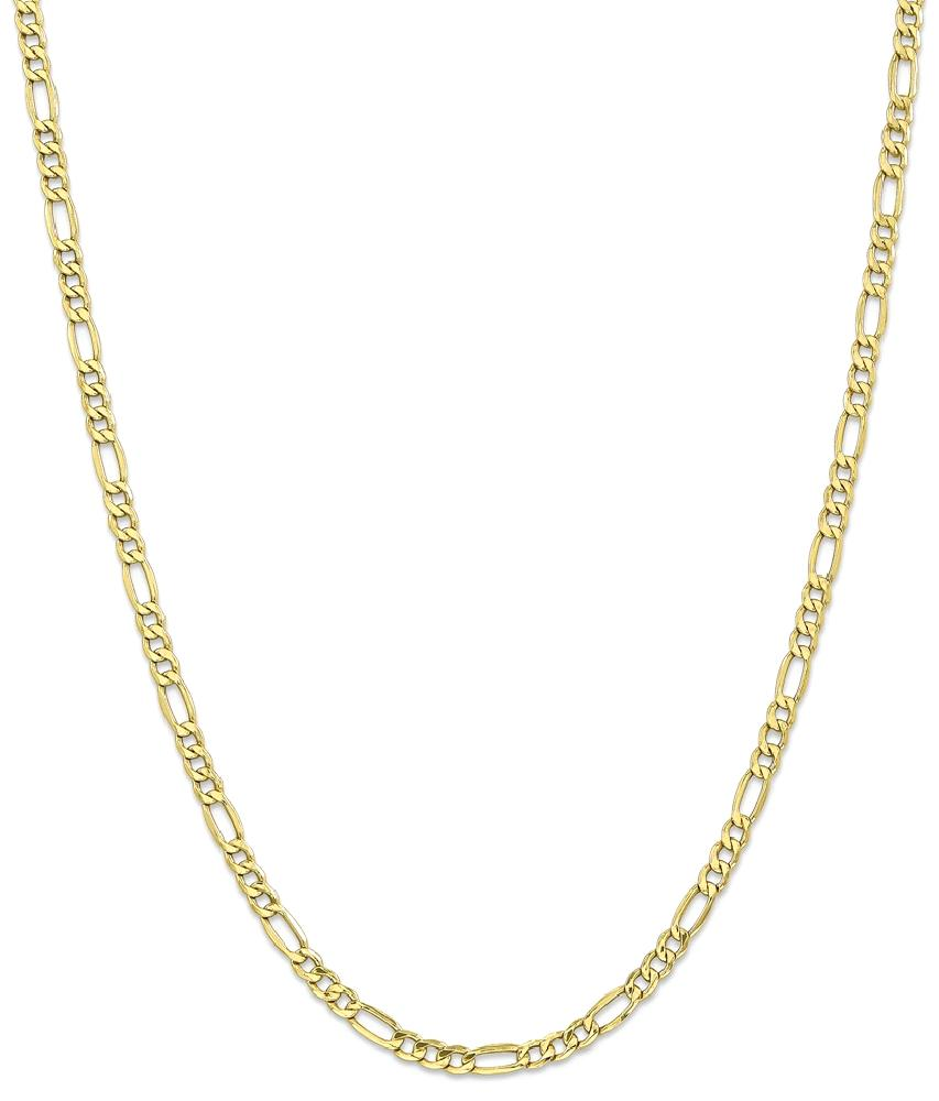 ICE CARATS 10kt Yellow Gold 4.4mm Link Figaro Chain Necklace 18 Inch Pendant Charm Fine Jewelry Ideal Gifts For Women... by IceCarats Designer Jewelry Gift USA