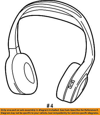 Chrysler Oem 2017 Pacifica Entertainment System Headphone 68239856ab