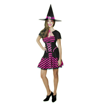 Pink And Black Witch Costume (Teen Witch Costume Pink and Black)
