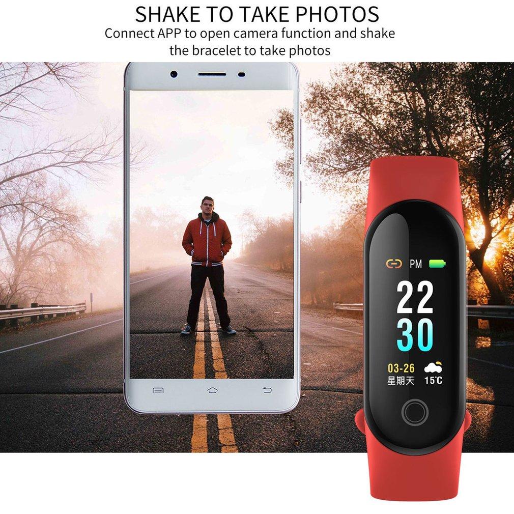 Smart Armband Hartslag IP67 Fitness Tracker Band Sleep Monitor Bloeddruk Smart Polsband Horloge Kleur Screen