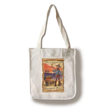 Tote Kid Pirate - Pemaquid Point - Pirate Plunder - Lantern Press Artwork (100% Cotton Tote Bag - Reusable)