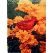 "Cardinal Fall Large Seasonal House Flag 28"" x 40"""