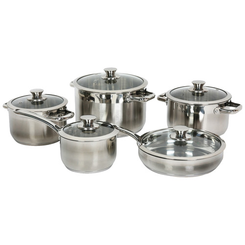 Gourmet Chef Gourmet Chef Stainless Steel 10 Piece Cookware Set