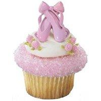12 ct Ballet Slipper Cupcake Topper Rings*