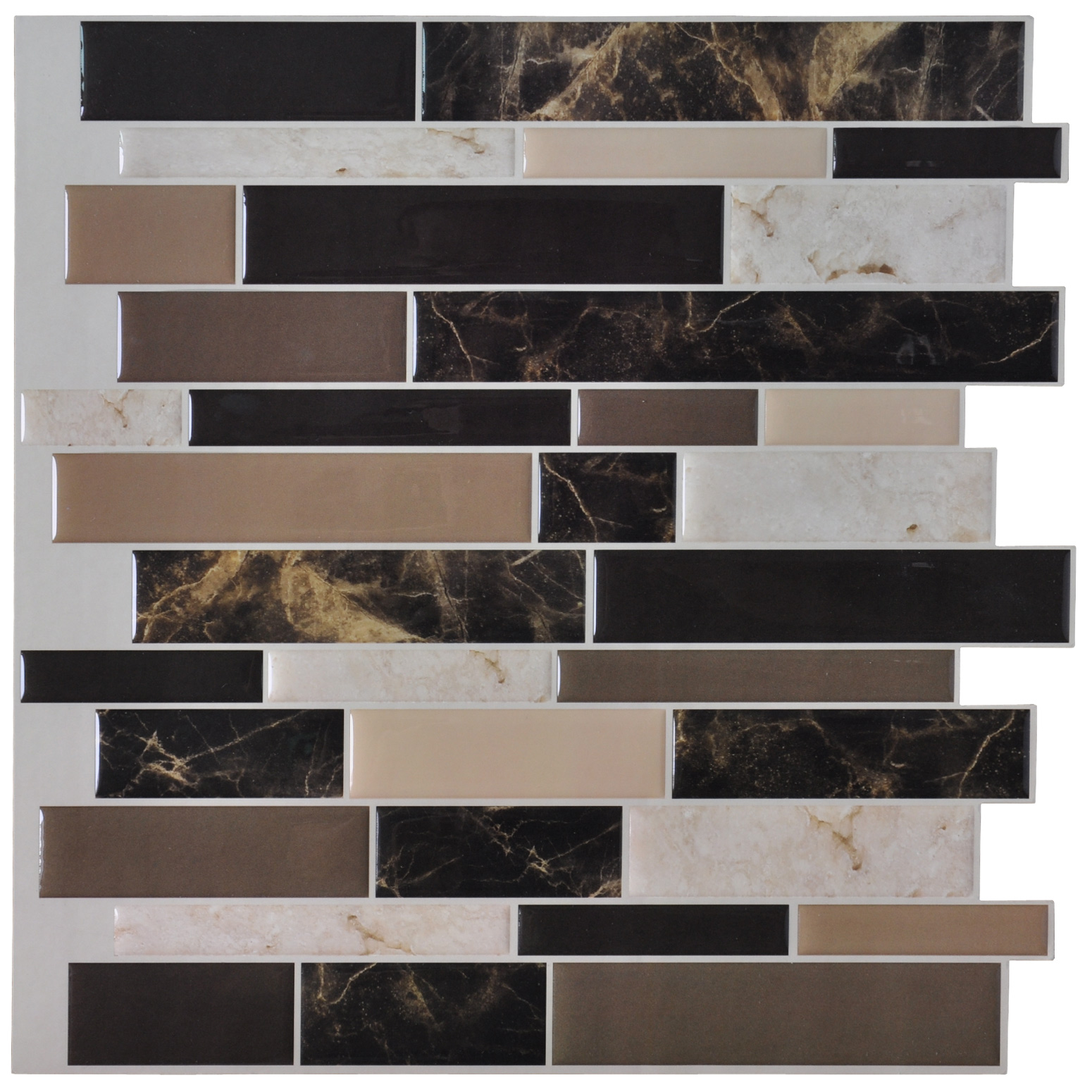 "Self Adhesive Wall Tile Peel and Stick Backsplash for Kitchen(12""x12"" 6 sheets)"