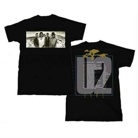 Live Nation Lnm 2U207 Xl U2 Joshua Tree European Tour T Shirt   Black   Xl