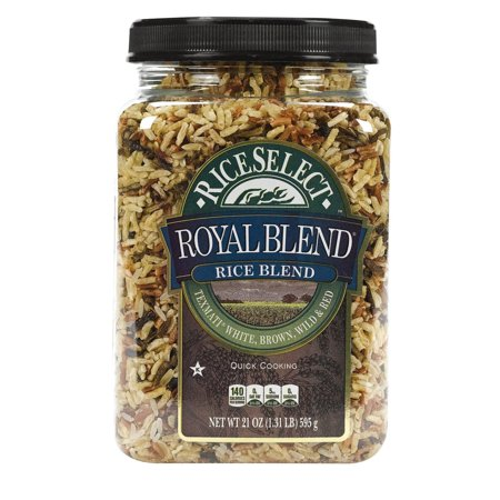 Brown Rice Blend (Rice Select Royal Blend - White, Brown And Red - Pack of 4 - 21 Oz.)