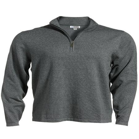 Edwards Garment Long Sleeve 1/4 Zip Fine Gauge Sweater, Style 4072 Full Zip Fine Gauge