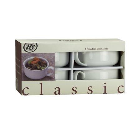 Bia Cordon Bleu Microwave Safe Mug - BIA Cordon Bleu Classic Rim 20-Ounce Soup Mugs - Set of 4