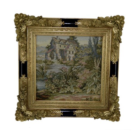 Italian Villa Tapestry - Fine Authentic Italian Tapestry Country Side House Scenery 20X20